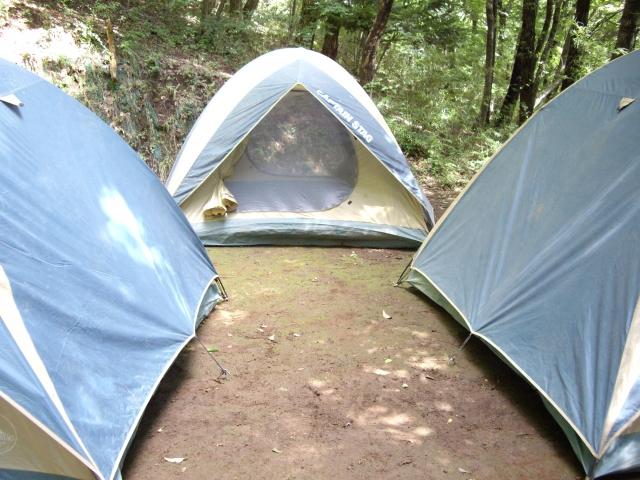 ボーイスカウトのテント